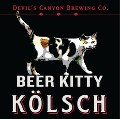 Beer Kitty Kolsch Tap Handle