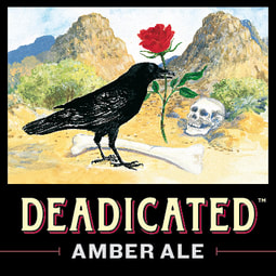 Deadicated Amber Ale Tap Handle