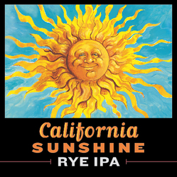 California Sunshine Rye IPA Tap Handle
