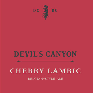 Cherry Lambic Tap Handle